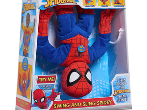 Marvel's 'Swing & Sling' Spider-Man plush talks, flips and is now just $10