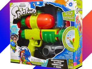 Take the game into your own hands with Nintendo's Splatoon Splattershot Blaster Toy