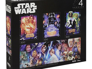 Pick up four Star Wars jigsaw puzzles in this collector's multipack for $14