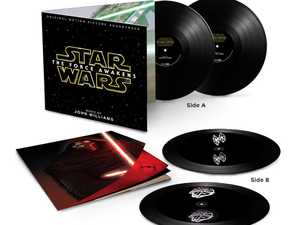 Spin this $25 Star Wars: The Force Awakens vinyl record to reveal a hologram