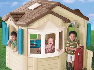 Maybe the kids will trash this $100 Step2 Cottage Playhouse instead of your living room
