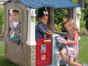 Vacation in the backyard with this $108 Step2 Seaside Villa playhouse