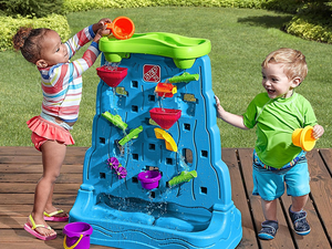 Cool down your kids with the $40 Step2 Waterfall Discovery Wall Playset