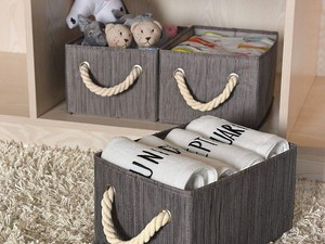 Organize your home with discounts on StorageWorks decorative storage bins