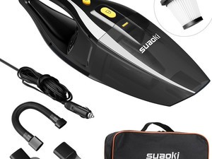 Clean up your mess with this $16 Suaoki 12V car vacuum