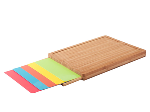 Prep in the kitchen with a Sunjoy Cutting Board and five plastic mats for less than $7