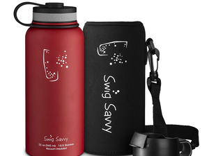 Swig Savvy's $10 Stainless Steel 32oz. Water Bottle keeps drinks cold for up to 24 hours