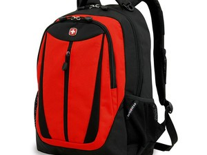 Take your daily carry along in this $15 Swiss Gear lightweight laptop backpack