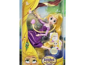 This $4 Disney Tangled Rapunzel doll has super long hair