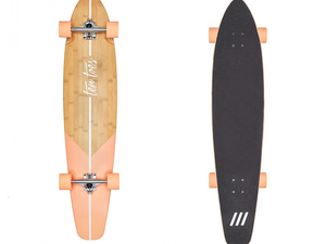 Go for a ride with Ten Toes' $42 Zed Bamboo Longboard in a variety of styles