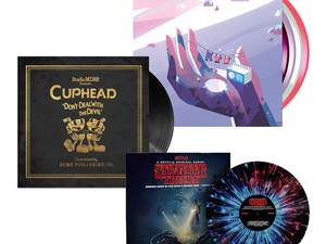 Vinyl records of video game soundtracks and TV show scores are discounted by up to 60% at ThinkGeek