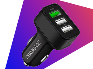 Grab this 3-port USB Car Charger with Quick Charge 3.0 for only $4