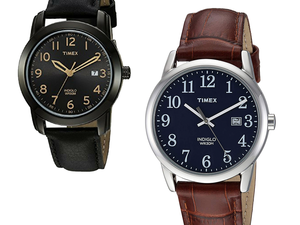 The clock's ticking on these Timex leather watch discounts for men via Amazon