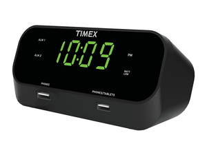 The $20 Timex RediSet Dual Alarm Clock charges devices with its two USB ports