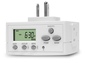 Set a schedule for your holiday lights with this $8 Programmable Plug-in Timer