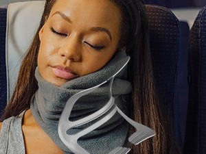 Keep your head supported while traveling with this $21 Trtl pillow