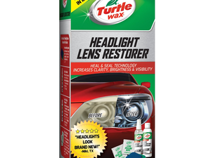 Brighten up your headlights with the $6 Turtle Wax Lens Restorer Kit
