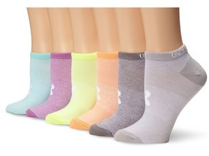 Six pairs of Under Armour Women's no-show socks can be yours for $12