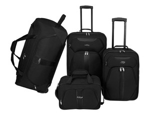 Today only, this four-piece U.S. Traveler luggage set can be yours for $75