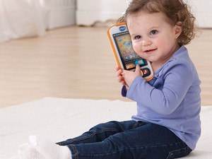 Teach 'em young with the $7 VTech Touch & Swipe Baby Phone