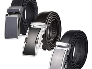 Slide on one of these ratchet leather belts for as low as $8