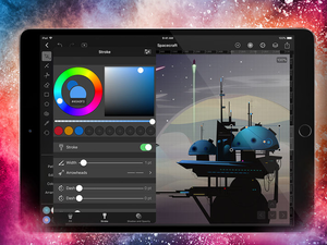 Create stunning imagery with the free Vectornator Pro graphics editor for iOS devices