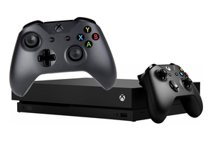 Upgrade your game with an Xbox One X and two controllers for just $450