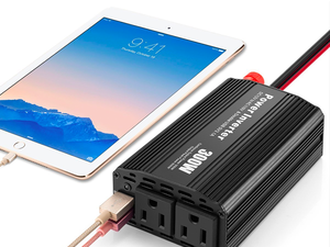 Keep your electronics powered through the ride with this $12 power inverter