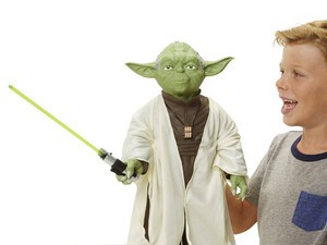 This Yoda figure is basically life-sized and he's only $10