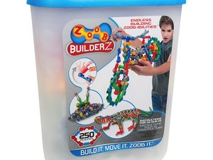 Let your imagination run wild with the $23 Zoob BuilderZ 250-piece Kit