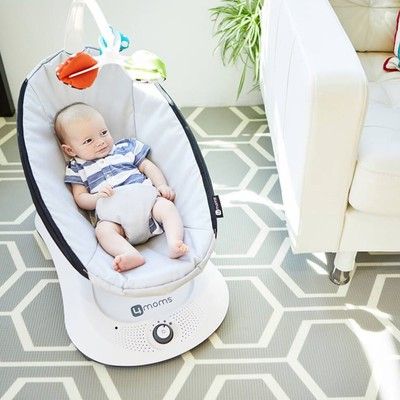 Soothe your cranky kid with the 4moms RockaRoo Compact Baby Swing at its best price since 2017