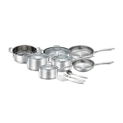 Upgrade your kitchen with 25% off the 14-piece Chef's Choice stainless steel cookware set