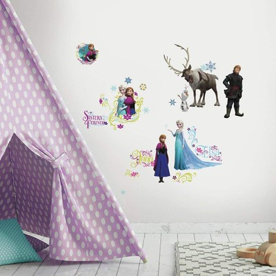 Decorate your Disney fan's room with these $5 RoomMates Frozen Peel and Stick Wall Decals