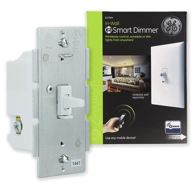 GE Z-Wave wireless smart dimmer toggle-style light control
