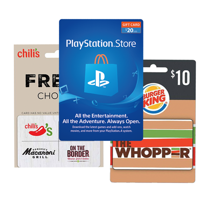 15% off PlayStation, Chili's, and other gift cards in-store via Dollar General