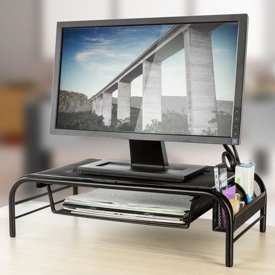 Halter Mesh Metal Monitor Stand two-pack