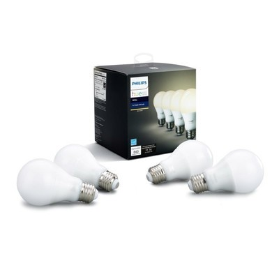 Philips Hue white A19 dimmable LED smart bulb 4-pack