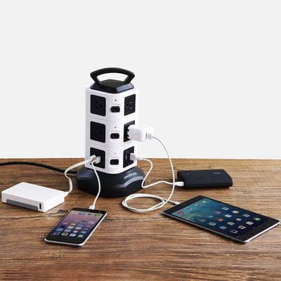 Tame your tech with the discounted $19 Jackyled 10-Outlet Power Strip Tower