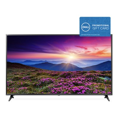 This $1,500 LG 75-inch 4K TV comes with a $300 promotional gift card from Dell