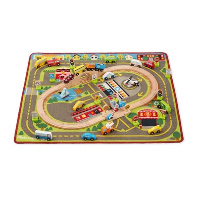Get A Melissa Doug Vehicle Rug Playset For Only 36