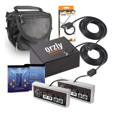 Orzly Essentials Accessory Pack for Nintendo NES Classic