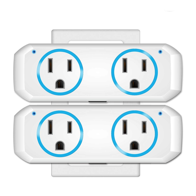 Oukitel Mini Dual Outlet Smart Plug, two-pack