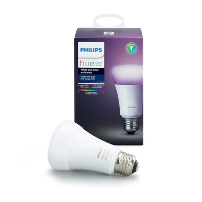 Philips Hue White and Color Ambiance A19 Dimmable LED Smart Bulb