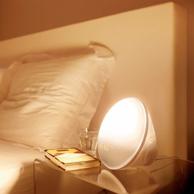 Philips Wake-up Light Alarm Clock with Coloured Sunrise Simulation