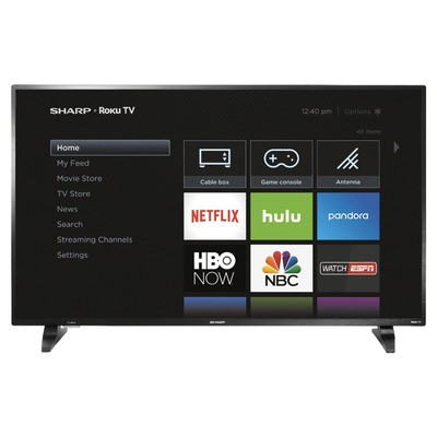 Binge your favorite shows with $100 off Sharp's 50-inch 1080p Roku TV