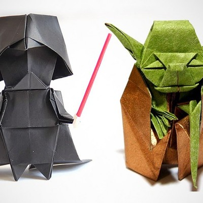 Get The 6 Star Wars Origami Book And Make A Paper Yoda R2 D2 And More