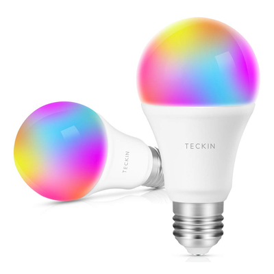 Teckin Dimmable E27 Multicolor Smart Light Bulb Two-pack