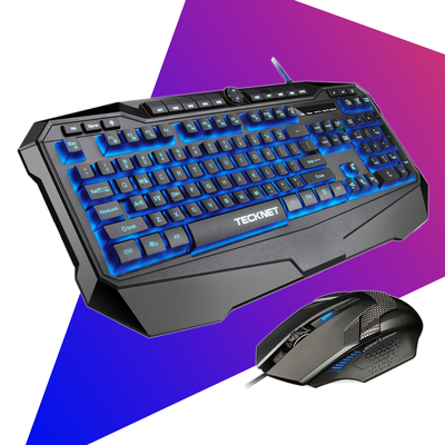 TeckNet Gryphon Pro LED Illuminated Programmable Gaming Keyboard and Mouse set
