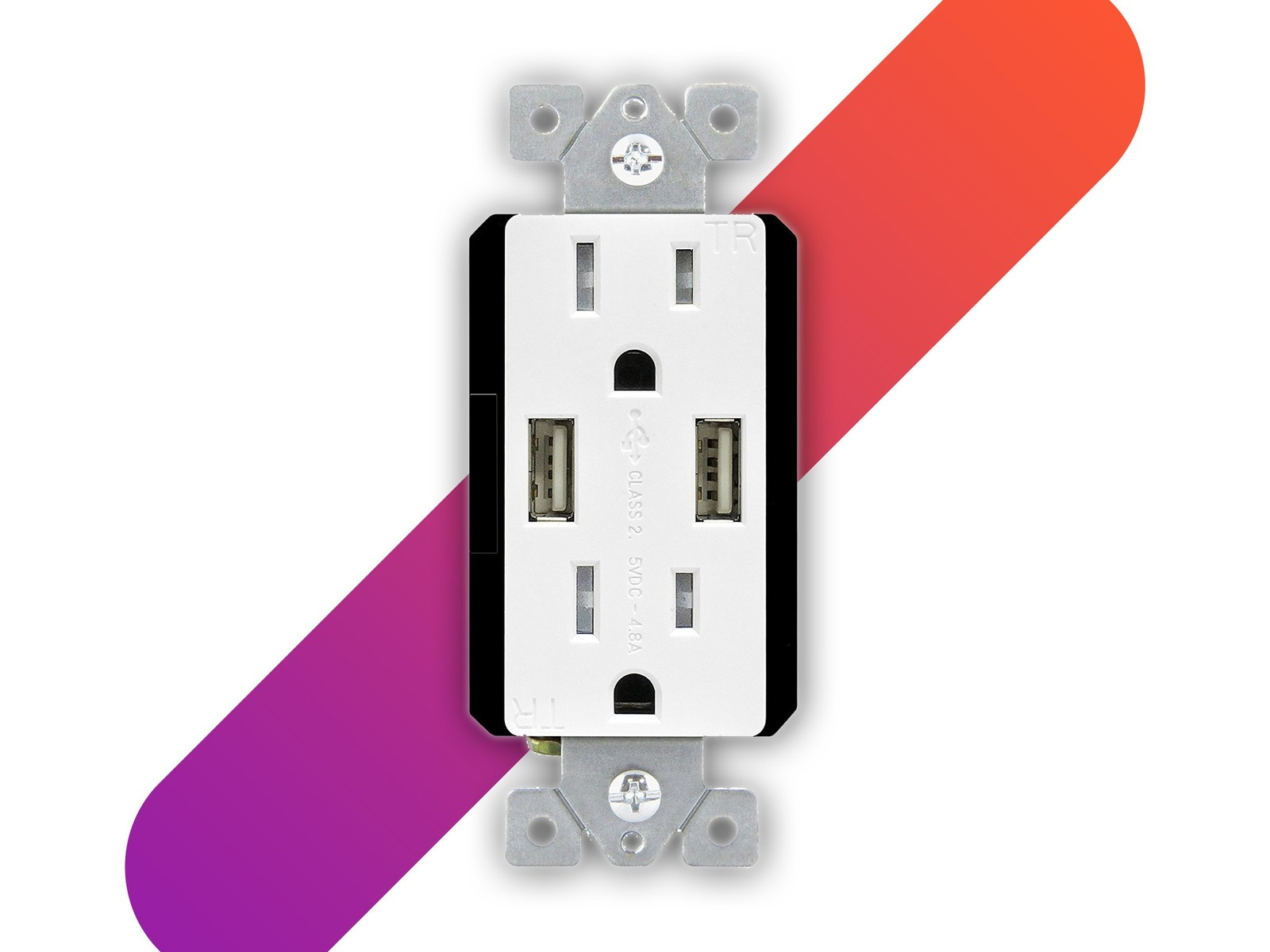 Replace your wall outlets with ones that have two USB ports for
